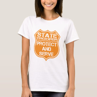 State Trooper Badge Protect and Serve T-Shirt