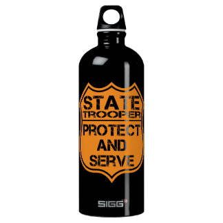 State Trooper Badge Protect and Serve Water Bottle