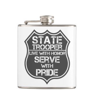 State Trooper Live With Honor Serve With Pride Flask