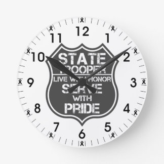State Trooper Live With Honor Serve With Pride Round Clock