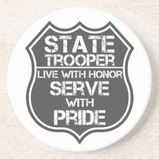 State Trooper Live With Honor Serve With Pride Sandstone Coaster