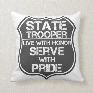 State Trooper Live With Honor Serve With Pride Throw Pillow