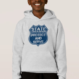State Trooper Police Badge Protect and Serve Hoodie