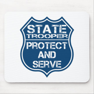 State Trooper Police Badge Protect and Serve Mouse Pad