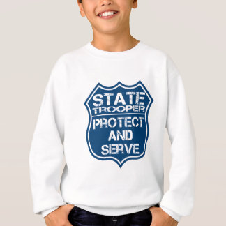 State Trooper Police Badge Protect and Serve Sweatshirt