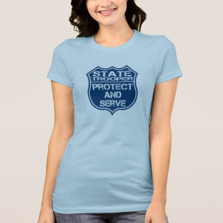 State Trooper Police Badge Protect and Serve T-Shirt