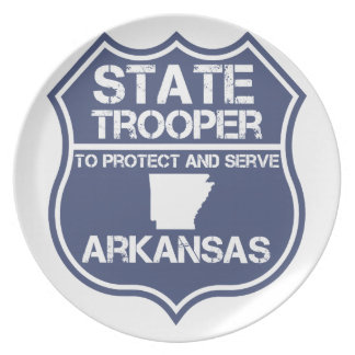 State Trooper To Protect And Serve Arkansas Dinner Plate