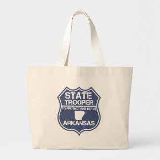 State Trooper To Protect And Serve Arkansas Large Tote Bag