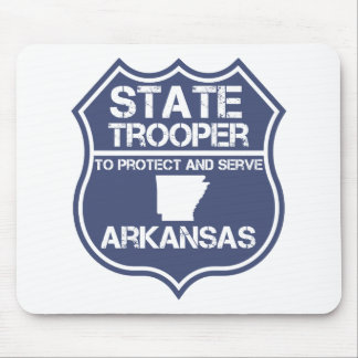 State Trooper To Protect And Serve Arkansas Mouse Pad