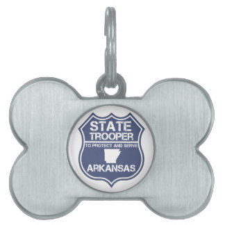 State Trooper To Protect And Serve Arkansas Pet Name Tag
