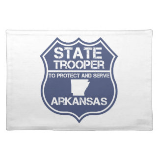 State Trooper To Protect And Serve Arkansas Placemat