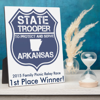 State Trooper To Protect And Serve Arkansas Plaque