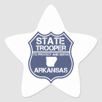 State Trooper To Protect And Serve Arkansas Star Sticker