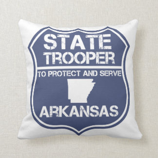 State Trooper To Protect And Serve Arkansas Throw Pillow