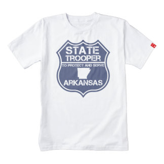 State Trooper To Protect And Serve Arkansas Zazzle HEART T-Shirt