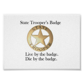 State Trooper's Badge Poster