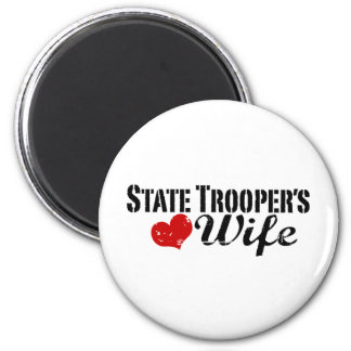 State Trooper's Wife 2 Inch Round Magnet