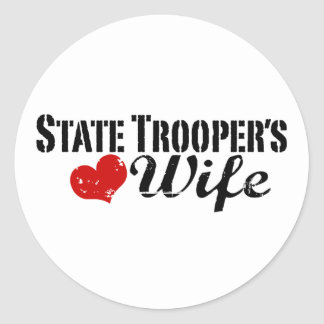 State Trooper's Wife Classic Round Sticker