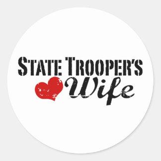 State Trooper's Wife Classic Round Sticker