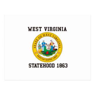 Statehood 1863 de Virginia Occidental Tarjetas Postales
