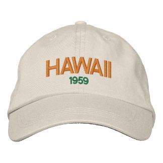 Statehood 1959 de Hawaii Hat Gorro Bordado