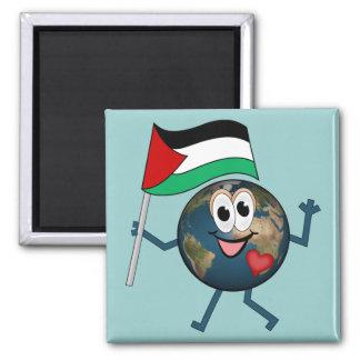 Statehood del palestino de la ayuda imán cuadrado
