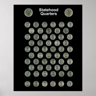 Statehood Quarters Poster -- Black