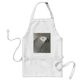 Stately African Grey Parrot Adult Apron