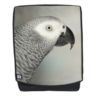 Stately African Grey Parrot Backpack