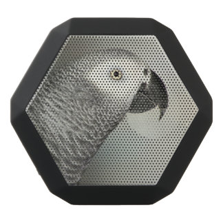 Stately African Grey Parrot Black Bluetooth Speaker