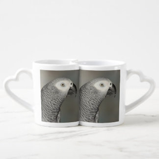 Stately African Grey Parrot Couples Coffee Mug
