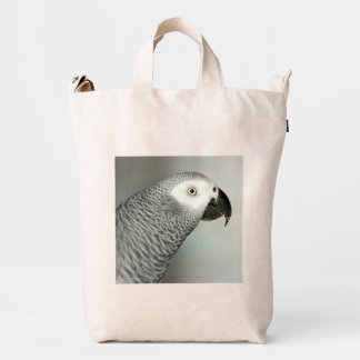 Stately African Grey Parrot Duck Bag
