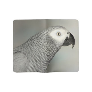 Stately African Grey Parrot Large Moleskine Notebook