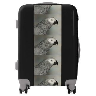 Stately African Grey Parrot Luggage