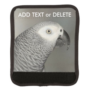 Stately African Grey Parrot Luggage Handle Wrap