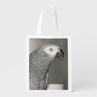 Stately African Grey Parrot Market Tote