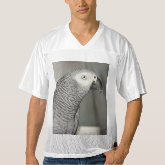 Stately African Grey Parrot Men's Football Jersey