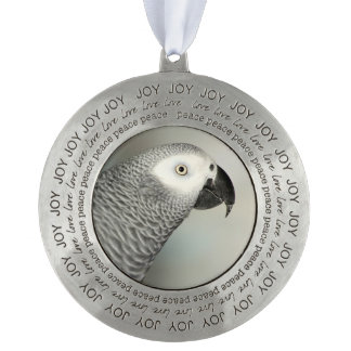 Stately African Grey Parrot Ornament