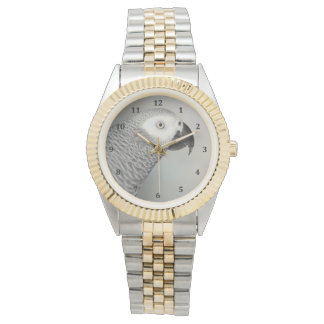 Stately African Grey Parrot Wristwatch