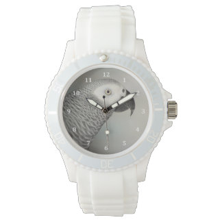Stately African Grey Parrot Wristwatches