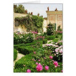 Stately and Serene Italian Rose Garden Greeting Card