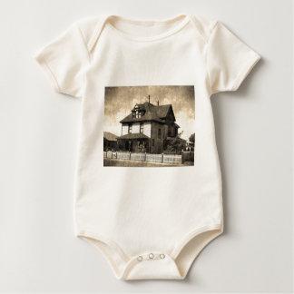 Stately Antique House Baby Bodysuit