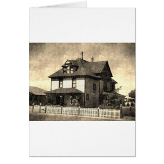 Stately Antique House Card