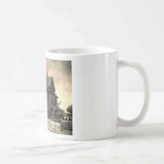 Stately Antique House Coffee Mugs