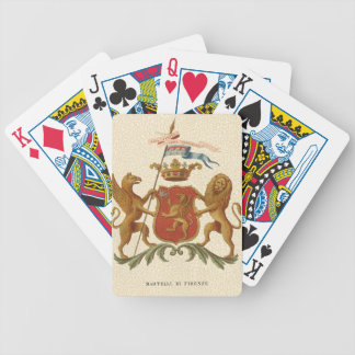 Stately Heraldic Badge with Griffin and Lion Bicycle Playing Cards