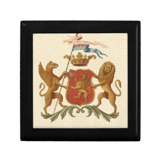 Stately Heraldic Badge with Griffin and Lion Gift Box