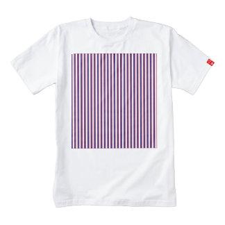 Stately Patriotic Stripes Zazzle HEART T-Shirt