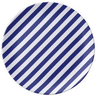 Stately Stripes in Blue Plate