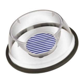 Stately Stripes in Blue Pet Bowl