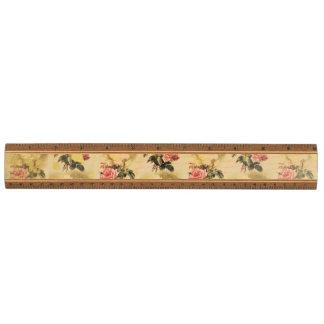 Stately Vintage Floral Ruler